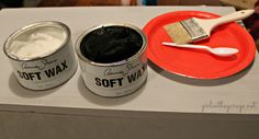 Tips on how to use Chalk Paint® decorative paint by Annie Sloan along with Clear and Dark Soft Wax on furniture | By Girl In The Garage