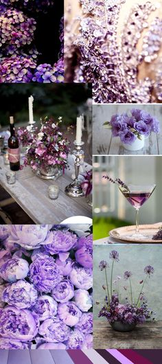 Parma Violet Moodboard | Whiter than White Weddings