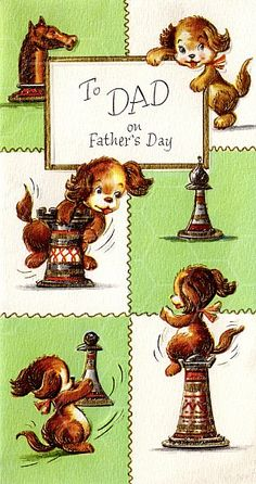 Vintage Father's Day Card from TwistedPapers.com  $1 instant download