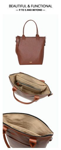13 in Leather Laptop tote, lightweight, beautiful and functional for work and travel. Tote better, go getter!