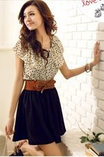 Love this look, belt and dress combo