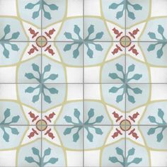 Moroccan Encaustic Cement Tile Pattern 01a