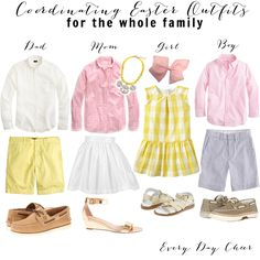 Coordinating Family Easter Outfits - http://everydaycheer.com/2014/03/14/coordinating-family-easter-outfits/