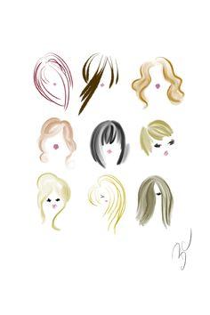 HAUTE SKETCH BLOG / DESIGNSBYBC: Sketchbook: Short Hair