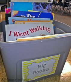 How to make a big book literacy center - I could do this with my big books and have a center for the entire year
