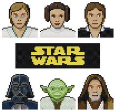 Star Wars Characters Pattern by KeenahsCrossStitch