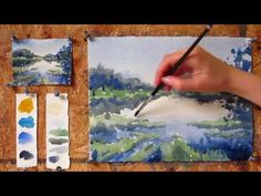 Intermediate step by step watercolor tutorial: Painting a Lake - Bing video Watercolor Landscape Tutorial, Watercolor Art Face, Watercolor Art Lessons, Step By Step Watercolor, Watercolor Video, Watercolor Art Paintings, Watercolour Tutorials, Painting Lessons, Watercolor Techniques