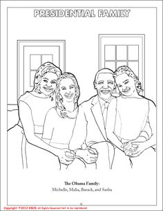 Barack Obama's Family Writing Worksheet. Cut and paste the