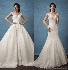 Over Skirts Wedding Dresses 2017 Famous Design Amelia Sposa with Illusion Back And Detachable Train Appliques Tulle Ball Gown Bridal Gowns Over Skirts Wedding Dress 2017 Wedding Dresses Amelia Sposa Wedding Dresses Online with 228.58/Piece on Uniquebridalboutique's Store | DHgate.com