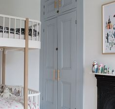 Modern Scandi Kids Bedroom Makeover - Shared Hosting - The first room in our new home is finished-take a look at our grey-blue Scandi kids room makeover and how it was before we started Bedroom Cupboards, Ideas Hogar, Cupboard Handles, Door Makeover, Cupboard Doors Makeover, Wardrobe Makeover, Furniture Makeover, Diy Furniture, Painting Furniture