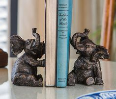 elephant book ends <3                                                                                                                                                     More