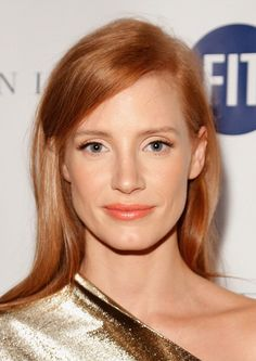 Jessica Chastain at the FIT Gala honoring Stefano Tonchi. Hair by Renato Campora.