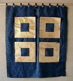 Sashimono. Large Samurai Battle Flag. Early-Mid Edo