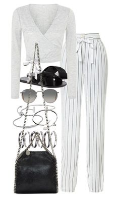 """""""Untitled #7691"""" by nikka-phillips ❤ liked on Polyvore featuring TIBI, Ancient Greek Sandals, Monica Vinader, M.N.G, Ray-Ban, Humble Chic, Cartier and STELLA McCARTNEY"""