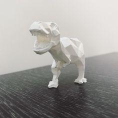 Low-poly t-rex STL file, WONGLK519 • Download on https://cults3d.com • #3Dprinting #3Dprint #3Ddesign #STLmodel #3Dmodel #3Dprinter #Impression3D #Imprimante3D #Fichier3D #Design #3Dmodeling #3D