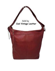 Natural linen with crimson stripes Messenger Bag Adjustable shoulder strap zippered pocket and flap clasps to secure your items