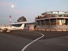 From the runway at Santa Monica Airport