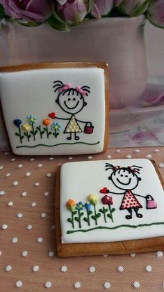 Cupcakes Decoration Ideas For Kids Cookie Decorating 66 Best Ideas Mother's Day Cookies, Paint Cookies, Cookies For Kids, Fancy Cookies, Valentine Cookies, Iced Cookies, Cute Cookies, Cookies Et Biscuits, Cupcake Cookies