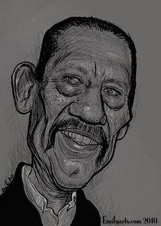 Emily's Caricature Sketchblog: Danny Trejo (Mexican-American actor)