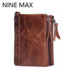 Good price Genuine Leather Luxury Men Wallets High Quality Large Capacity Card Holder Vintage Clutch Wallet Note Compartment Male Purse just only $14.27 with free shipping worldwide  #walletsformen Plese click on picture to see our special price for you