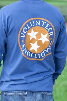Tristar Long Sleeve Tee/Navy with Orange