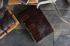Leather Book Journal Sketchbook Photo book by Willow Creek Leather Co.