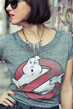 My Style Pill - Ghostbusters Estilo Cool, The Ghostbusters, Personalized T Shirts, Geek Chic, Casual Elegance, Vintage Tees, Style Me, Personal Style, Cute Outfits