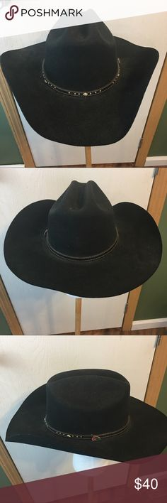 Justin XX Black Cowboy Hat Fitted Size 7 3 8 This is a Men s Justin d65b3c15c9fa