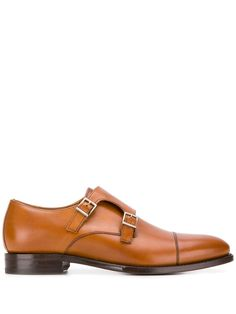 Brown leather double buckle monk shoes from BERWICK SHOES featuring a pointed toe, a brand embossed insole and a rubber sole. Berwick Shoes, Brown Leather, Oxford Shoes, Women Wear, Dress Shoes, Mens Fashion, Fashion Design, Men's Style, Products