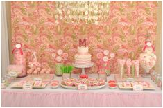 pink and green dessert bar
