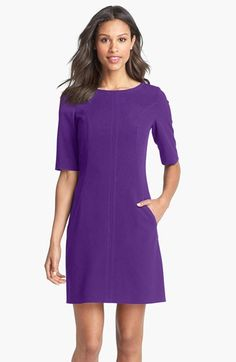 Free shipping and returns on Tahari Seamed A-Line Dress (Regular & Petite) at Nordstrom.com. Strategic vertical seaming sculpts a relaxed A-line dress with elbow-length sleeves.
