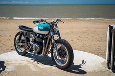 California Dreaming: A brat style Triumph Bonneville by FCR Original. Triumph Cafe Racer, Triumph Motorcycles, Cafe Racers, Custom Motorcycles, Custom Bikes, Brat Bike, Scrambler Motorcycle, Motorcycle Style, Triumph Scrambler