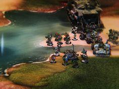 1 Mise en place d'un jeu sur le tapis carpeto #carpeto, #warhammer