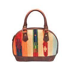 Fabric Totes – Zakara Genuine Leather Rug Ladies Handbag – a unique product by zakarabags on DaWanda