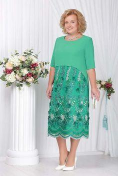 Наряднае платья для полных женщин белорусского бренда Ninele осень-зима 2017-2018