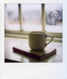 This would be wonderful; a book and a cup of hot tea. Yes, please...