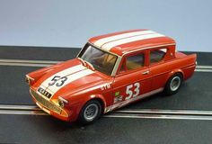 GTurner Models Ford Anglia 105E Saloon Racer Slot Car, ready for racing on the Toy Collector Marketplace!