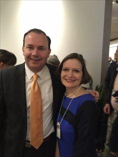 Anne Schlafly Cori and Sen. Mike Lee at 2017 Utah Eagle Forum Annual Convention, Jan. 14, 2017. #UTEagleForum #EagleForum