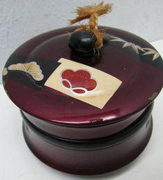 Japanese Lacquered Old Vintage Makie Box Bento Wood | eBay