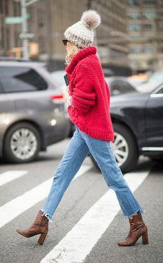 Schnipp, schnapp, ab!Camille Charriare macht's in NY vor: Den Saum trägt man jetzt vorne kurz, hinten lang.