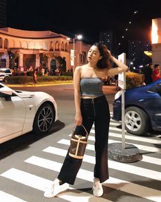 Just wanna share with you that has the best party collection! Perfect for the holidays & themed Christmas… High Street Fashion, Korean Street Fashion, Nadine Lustre Ootd, Nadine Lustre Outfits, Twin Outfits, Trendy Outfits, Fashion Outfits, Bershka Outfit, Summer Work Outfits