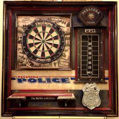 Pasadena Police single dartboard / dart board #3