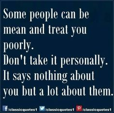 Mean people...