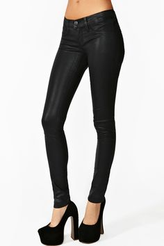 Coated Skinny Jeans