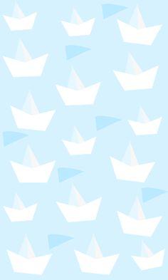 mobile wallpaper paper ships | fondo de pantalla para móvil barquitos de papel by La tienda de dibus