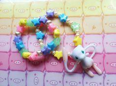 Fairy Kei Mew Pokemon Bracelets. $10.00, via Etsy.