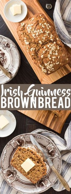 Irish Guinness Brown Bread | Saint Patrick's Day Recipes | Irish Recipes | Quick Bread Recipes | Beer Bread