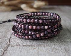 Five Wrap Bracelet with Turquoise Gemstone di LunaArtdesigns
