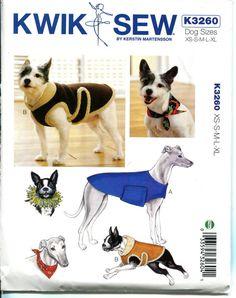 DOG COAT PATTERN Dog Bandana & Dog Party by DesignRewindFashions
