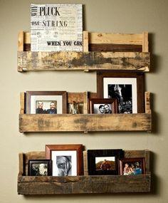 DIY Rustic Pallet Shelves